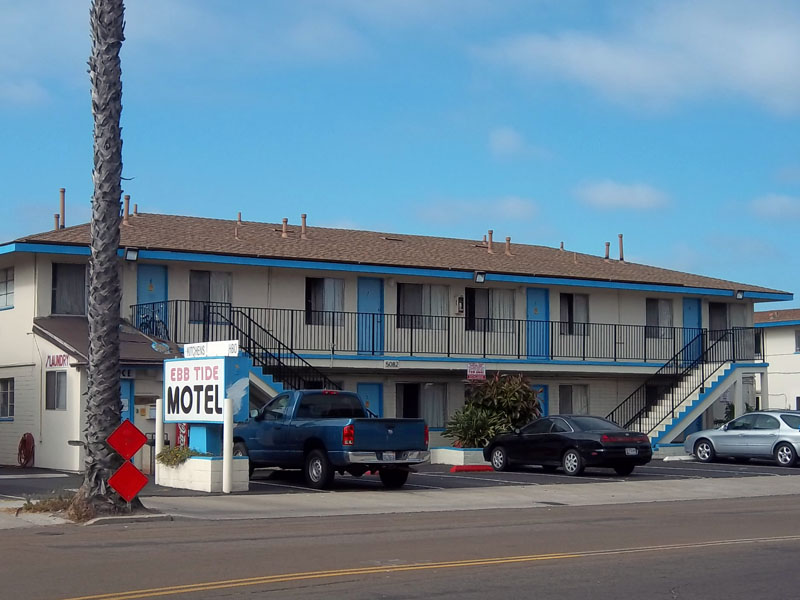 Ebb Tide Motel Ocean Beach Hitching Post Short Term Long Mission Bay San Go Ca California Beaches